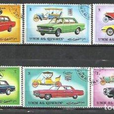 Sellos: 043D-UMM AL QIWAIN COCHES 2 SERIES COMPLETAS ARABIA EMIRATOS 1972 ORDINARIO Y AEREO AUTOMÓVIL. Lote 237364185