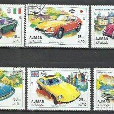 Sellos: 043F-AJMAN COCHES 2 SERIES COMPLETAS ARABIA EMIRATOS 1971 ORDINARIO Y AEREO. Lote 237368270