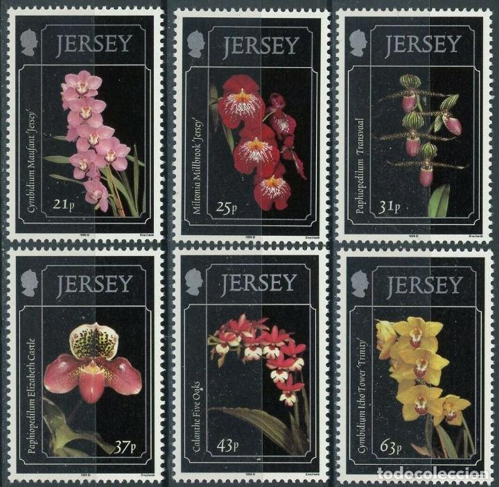 JERSEY 1999 IVERT 872/7 *** ORQUIDEAS DE JERSEY - FLORES - FLORA (Sellos - Temáticas - Automóviles)