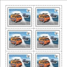 Sellos: 🚩 RUSSIA 2015 DISASTER RISK REDUCTION MNH - CARS. Lote 244743105