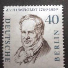 Sellos: ALEMANIA BERLIN 1959. ALEXANDER FREIHERR VON HUMBOLDT (1769-1859) YT:DE-BE 150A,. Lote 245214150