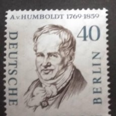 Sellos: ALEMANIA BERLIN 1959. ALEXANDER FREIHERR VON HUMBOLDT (1769-1859) YT:DE-BE 150A,. Lote 245214280