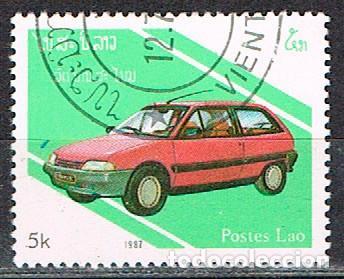 LAOS IVERT Nº 789, CITROEN AX, USADO (Sellos - Temáticas - Automóviles)