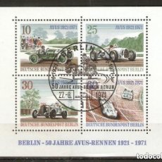 Sellos: ALEMANIA BERLÍN. 1971. HB .YT 3. COCHES. Lote 246106990