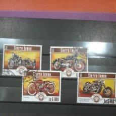 Timbres: SELLOS SIERRA LEONA MTDOS/2015/MOTOCICLETAS/MOTOS/TRANSPORTE/VEHICULO/INDIAN/HARLEY/AVIDSON/BMW/. Lote 252677400