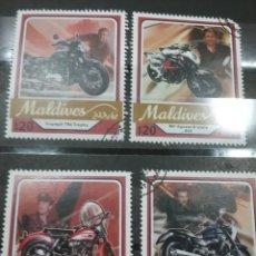 Timbres: SELLO MALDIVAS (MALDIVES) MTDOS/2017/MOTOCICLETAS/MOTOS/TRANSPORTE/GUZZI/HARLEY/DAVIDSON/BRUTALE. Lote 253016400