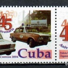 Sellos: ⚡ DISCOUNT CUBA 2004 THE 45TH ANNIVERSARY OF THE STATE SECURITY DEPARTMENT MNH - CARS, POLIC. Lote 255624585