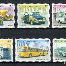 Sellos: ⚡ DISCOUNT CUBA 2007 PUBLIC TRANSPORT MNH - CARS, BUS, TAXI. Lote 255625070