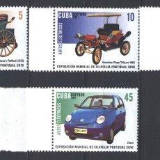 Sellos: ⚡ DISCOUNT CUBA 2010 INTERNATIONAL STAMP EXHIBITION PORTUGAL 2010 - LISBON MNH - CARS, PHILA. Lote 260489160