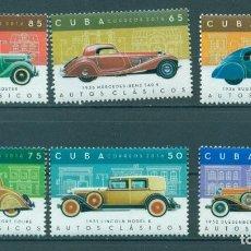 Sellos: ⚡ DISCOUNT CUBA 2016 CLASSIC CARS MNH - CARS. Lote 260491590