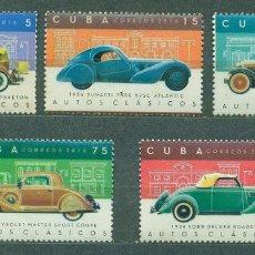 Sellos: ⚡ DISCOUNT CUBA 2016 CLASSIC CARS MNH - CARS. Lote 260491620