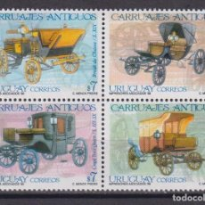 Sellos: ⚡ DISCOUNT URUGUAY 1999 CARRIAGES MNH - CARS, CARRIAGES. Lote 260509790