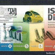 Sellos: ⚡ DISCOUNT CUBA 2013 CUBAN DESIGN INSTITUTE MNH - CARS, PHONES. Lote 260523520