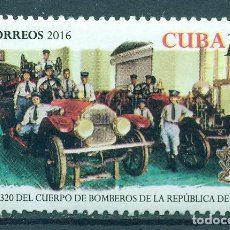 Sellos: ⚡ DISCOUNT CUBA 2016 THE 320TH ANNIVERSARY OF CUBA FIRE DEPARTMENT MNH - CARS, FIREFIGHTERS. Lote 260548570