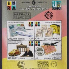 Sellos: ⚡ DISCOUNT URUGUAY 1998 INTERNATIONAL STAMP EXHIBITION IBRA 99 MNH - CARS, COINS ON STAMPS,. Lote 260585355
