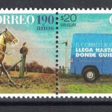 Sellos: ⚡ DISCOUNT URUGUAY 2017 190 YEARS OF URUGUAYAN MAIL MNH - CARS, HORSES, TRANSPORT, POST SERV. Lote 260586890