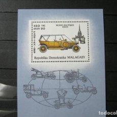 Sellos: MADAGASCAR MALAGASY HOJA COCHES NUEVA MNH** LUJO!!!. Lote 261164820
