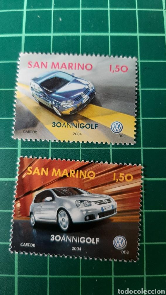 2004 SAN MARINO SERIE COMPLETA NUEVA COCHES AUTOMÓVILES GOLF WOLVAGEN (Sellos - Temáticas - Automóviles)