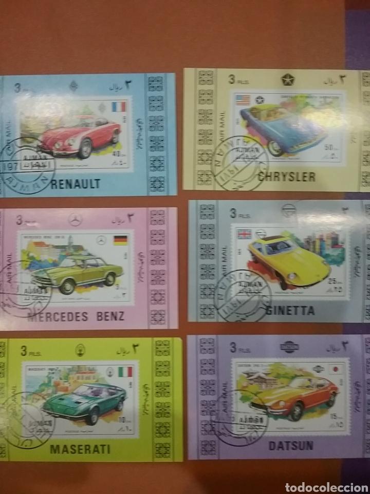 HB (6) AJMAN (E.A.U) MTDA/1971/COCHES/DEPORTIVOS/AUTOMOVIL/VEHICULOS/TRANSPORTE/CHRYSLER/MERCEDES/GI (Sellos - Temáticas - Automóviles)