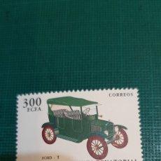 Sellos: FORD AUTOMÓVIL COCHE GUINEA ECUATORIAL 1993 EDIFIL 172 NUEVA. Lote 265737894