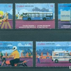 Sellos: ⚡ DISCOUNT CUBA 2016 NATIONAL ROAD SAFETY DAY MNH - CARS, MOTORCYCLES, TRANSPORT, STSI, BUS,. Lote 266184118