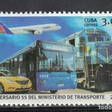 Sellos: ⚡ DISCOUNT CUBA 2016 THE 55TH ANNIVERSARY OF MITRANS - CUBAN MINISTRY OF TRANSPORTATION MNH. Lote 266184638