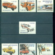 Sellos: ⚡ DISCOUNT NICARAGUA 1985 THE 6TH ANNIVERSARY OF NATIONAL FIRE BRIGADE MNH - CARS, FIREFIGHT. Lote 266193203