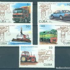 Sellos: ⚡ DISCOUNT CUBA 1993 DEVELOPMENT OF DIESEL ENGINE MNH - CARS, SHIPS, TRUCKS, THE TRAINS, ENG. Lote 266195223