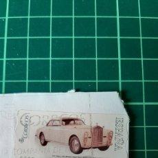 Sellos: ATM ROLLS RAYCE 1947 AUTOMÓVIL ETIQUETA AUTOADHESIVA USADA O.28 ESPAÑA. Lote 269345273