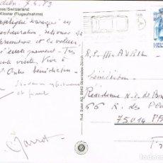 Sellos: SUIZA, EN CARRETERA VELOCIDAD MODERADA, RODILLO DEL 7-6-1989. Lote 269715108