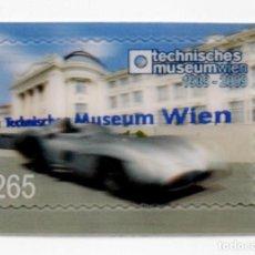Sellos: AUSTRIA 2009 MERCEDES W 196 SILVER ARROW SELLO HOLOGRAFICO AUTOADHESIVO NUEVO. Lote 270565968