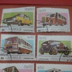 Timbres: SELLO MOZAMBIQUE MTDOS/1980/TRANSPORTE/CARRETERA/CAMION/COCHE/POLICIA/AMBULANCIA/GUAGUA/LEER DESCRIP. Lote 274426088
