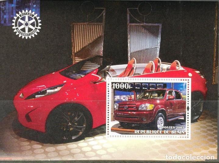 BENIN 2003 HOJA BLOQUE DE SELLOS TEMATICA AUTOS- COCHES DEPORTIVOS- CARS- AUTO- TOYOTA (Sellos - Temáticas - Automóviles)