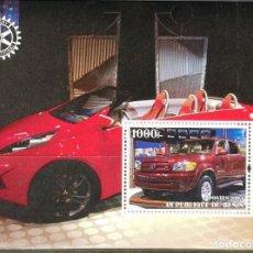 Sellos: BENIN 2003 HOJA BLOQUE DE SELLOS TEMATICA AUTOS- COCHES DEPORTIVOS- CARS- AUTO- TOYOTA. Lote 276443428