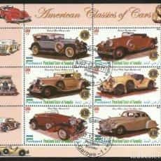 Sellos: SOMALIA 2010 HOJA BLOQUE SELLOS AUTOMOVILES CLASICOS DE EEUU - AUTOS CLASICOS - CARS. Lote 276444438