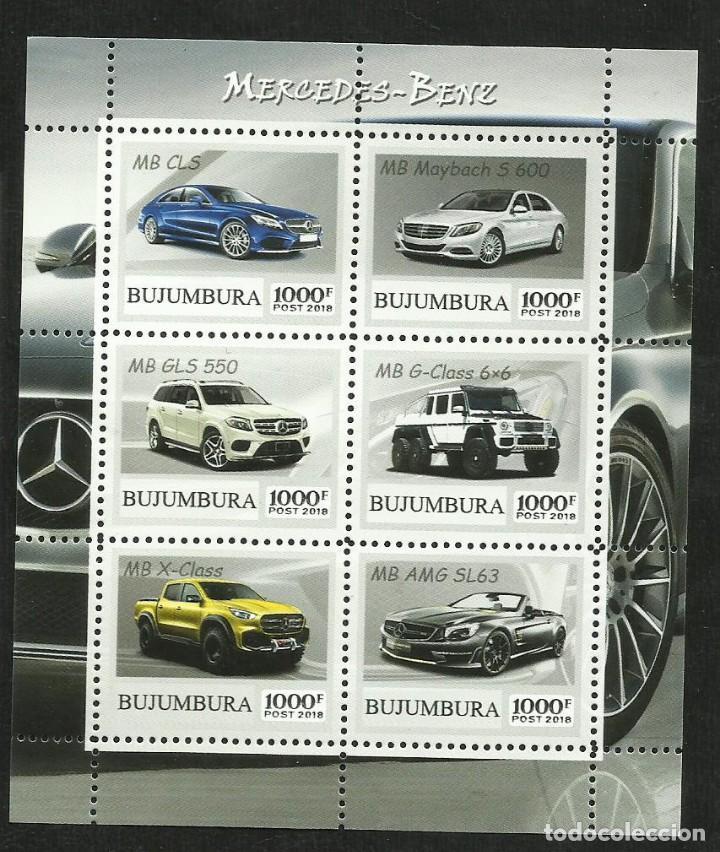 BURUNDI 2018 HOJA BLOQUE SELLOS AUTOMOVILES- AUTOS MERCEDES BENZ- CARS (Sellos - Temáticas - Automóviles)