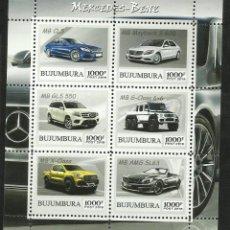 Sellos: BURUNDI 2018 HOJA BLOQUE SELLOS AUTOMOVILES- AUTOS MERCEDES BENZ- CARS. Lote 276445843