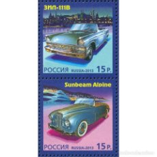 Sellos: ⚡ DISCOUNT RUSSIA 2013 AUTOMOTIVE HISTORY MNH - CARS, JOINT ISSUE. Lote 276608203