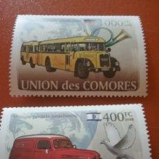 Sellos: SELLO COMORAS (I. COMORES) NUEVO/2008/TRANSPORTES/POSTALES/CAMION/FURGON/CO/LEER REGALO DESCRIPCIO. Lote 276909168