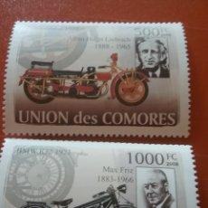 Sellos: SELLO COMORAS (I. COMORES) NUEVO/2008/MOTOCICLETAS/MOTOS/CLASICAS/TRANSPORTE/LEER REGALO DESCRIPCIO. Lote 276909428