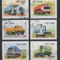 Sellos: VIETNAM 1990 CAMIONES 6 SELLOS USADOS * LEER DESCRIPCION. Lote 278271008