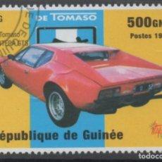 Sellos: GUINEA 1998 DE TOMASO PANTERA GTS SELLO USADO * LEER DESCRIPCION. Lote 278288888