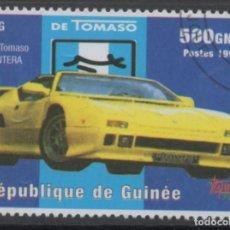 Sellos: GUINEA 1998 DE TOMASO PANTERA SELLO USADO * LEER DESCRIPCION. Lote 278288903