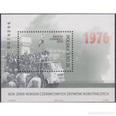 Sellos: ⚡ DISCOUNT POLAND 2006 WORKERS REVOLT MNH - CARS, REVOLUTION, WORKERS. Lote 281942043