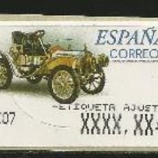 Timbres: 3 ATMS AUTOMÓVIL DE DION BOUTON EN BLANCO, AJUSTE ESTRECHO Y VALOR 6DE EN EUROS.. Lote 282193033