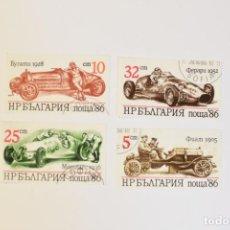 Timbres: 4 SELLOS DE BULGARIA TEMA COCHES. Lote 282591318