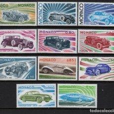 Sellos: MONACO 1018/28** - AÑO 1975 - AUTOMOVILES - EVOLUCION DEL AUTOMOVIL. Lote 284307803