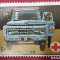 Sellos: BURKINA FASO 1985. TEMATICA AUTOMÓVILES.. Lote 286574528