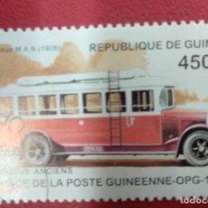 Sellos: GUINEA 1995. AUTOBUS M.A.N (1906). Lote 286575003