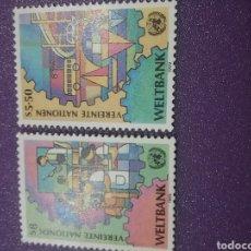 Sellos: SELLO NACIONES UNIDAS (VIENA) NUEVO/1989/BANCO/MUNDIAL/AUTOBUS/COCHE/BARCO/TRANSPORTE/ESCUELA/NIÑOS/. Lote 287335783